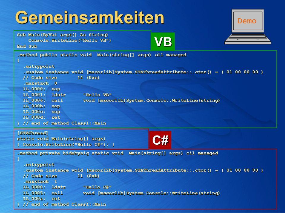 BE2 - Visual Basic .NET & C# .NET - Überblick und Vergleich