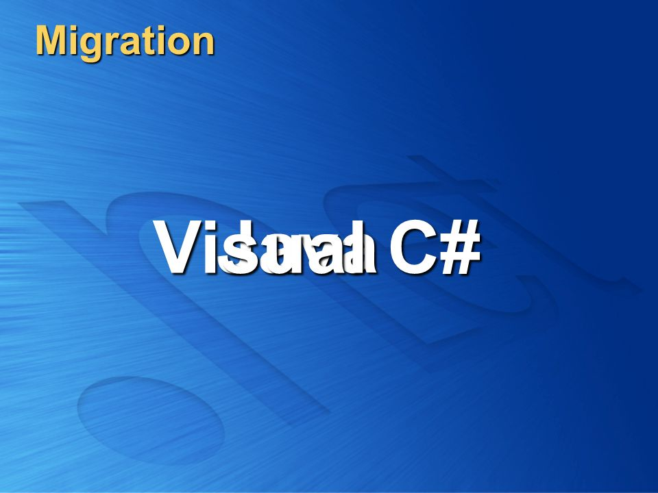 Migration Visual C# Java