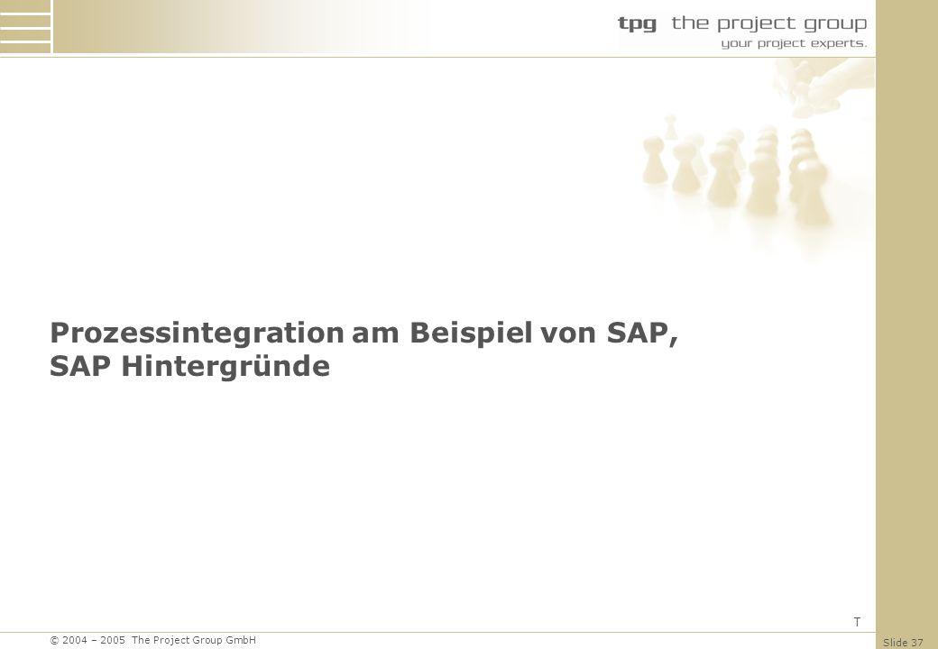 Prozessintegration am Beispiel von SAP, SAP Hintergründe
