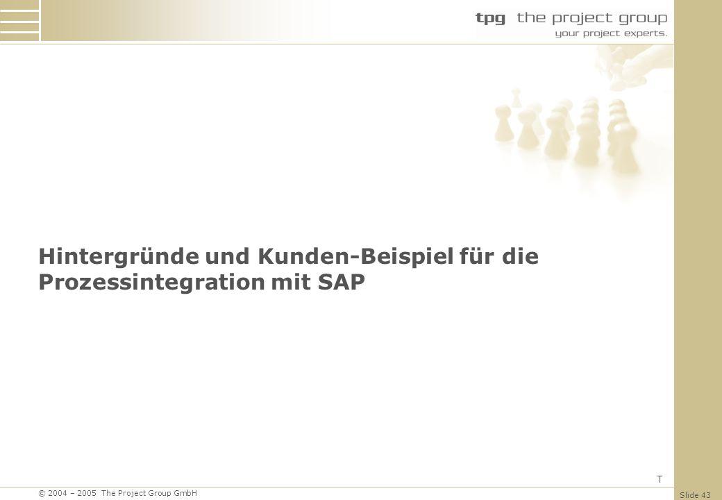 Hintergründe und Kunden-Beispiel für die Prozessintegration mit SAP