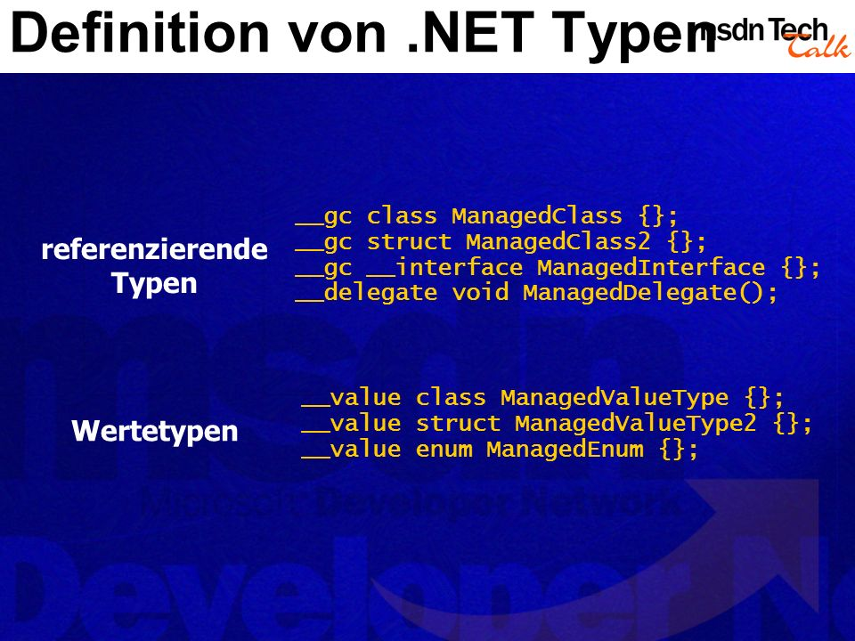 Definition von .NET Typen