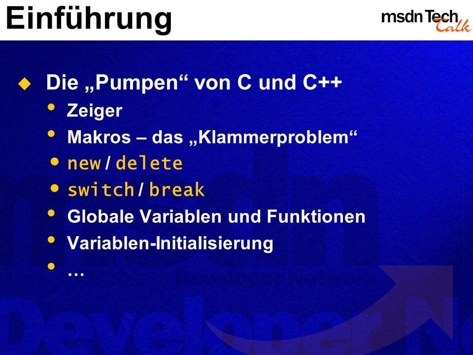 """Einführung Die """"Pumpen von C und C++ Zeiger"""