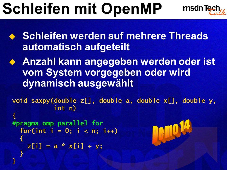 Schleifen mit OpenMP Demo 14