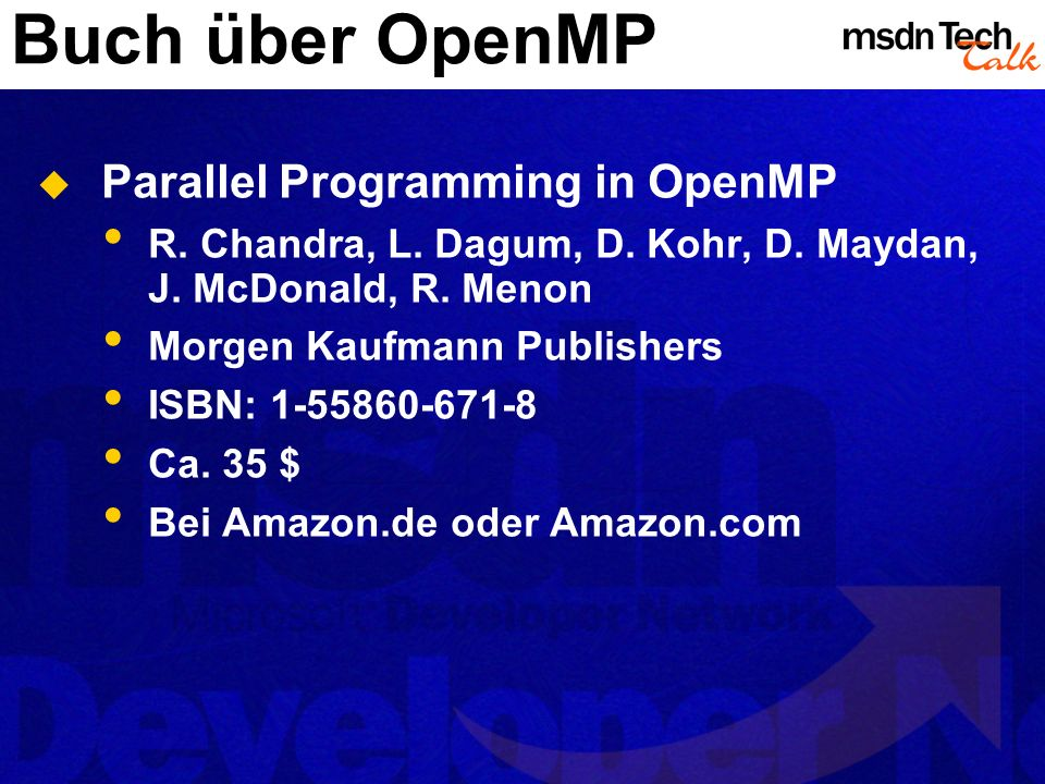 Buch über OpenMP Parallel Programming in OpenMP