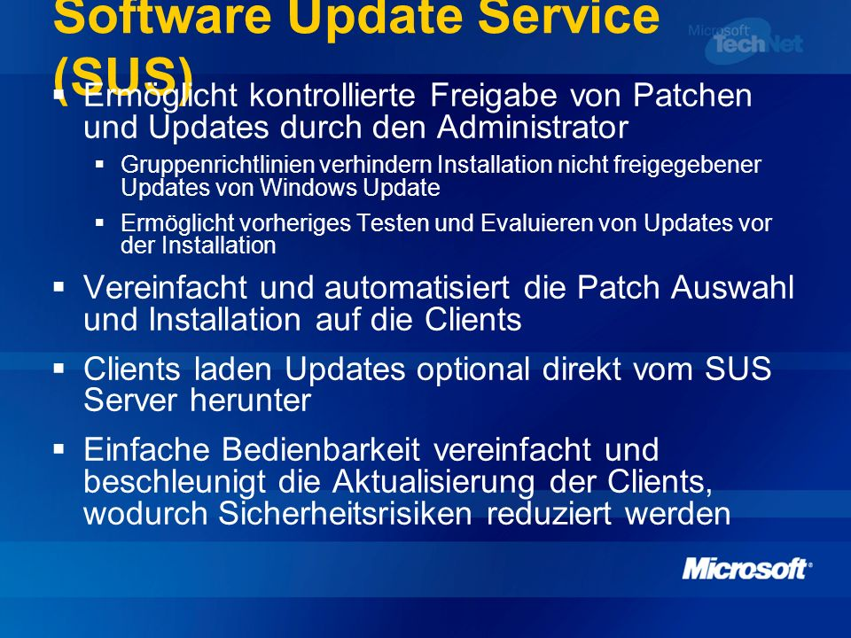 Software Update Service (SUS)