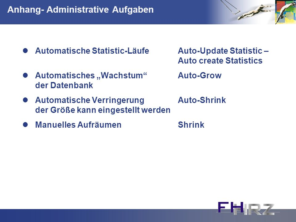 Anhang- Administrative Aufgaben