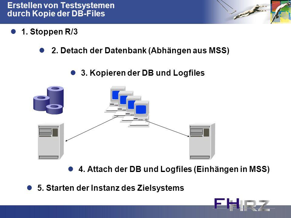 Erstellen von Testsystemen durch Kopie der DB-Files