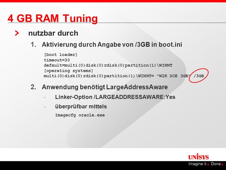 4 GB RAM Tuning nutzbar durch
