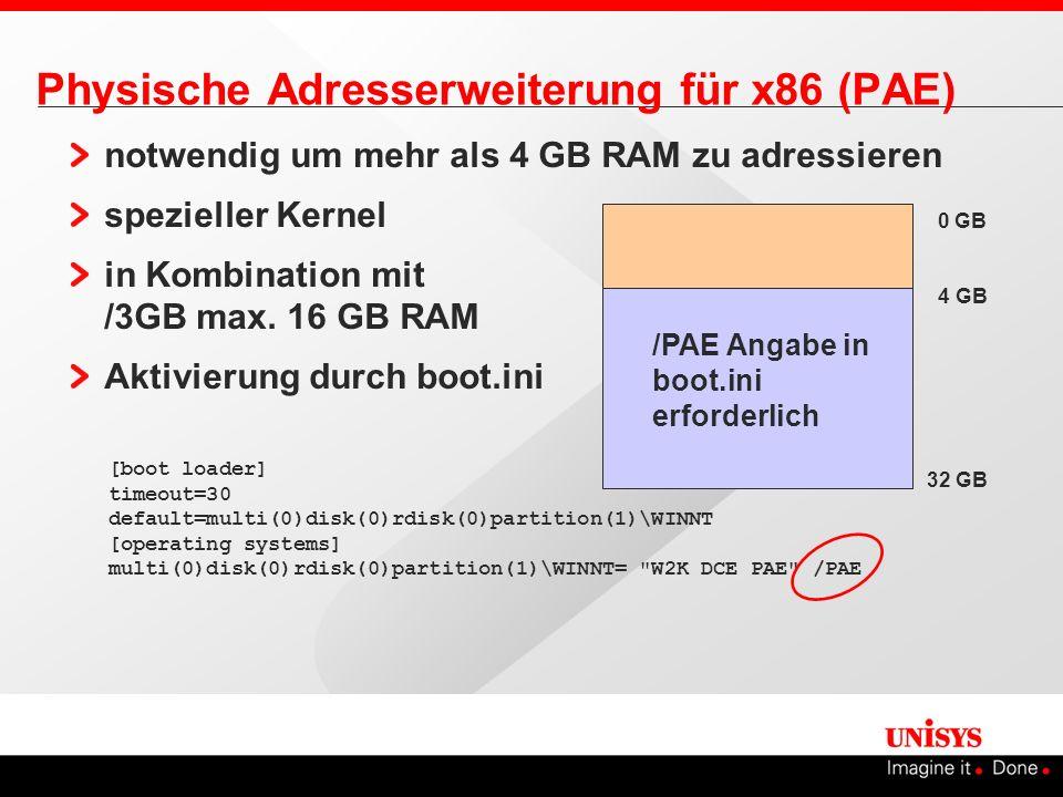 Physische Adresserweiterung für x86 (PAE)