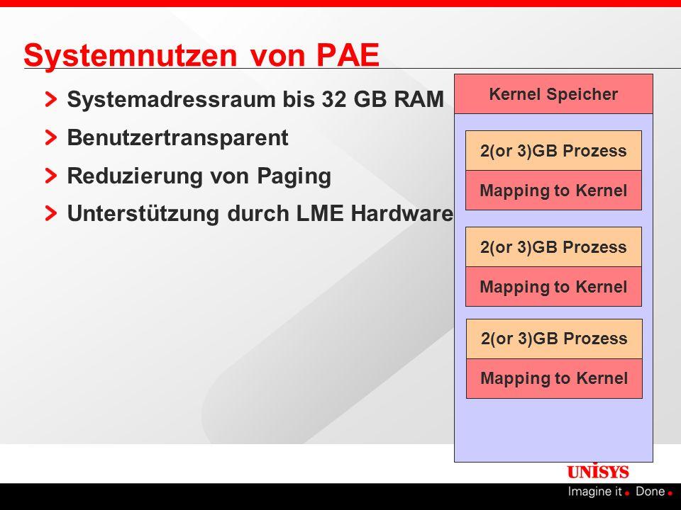 Systemnutzen von PAE Systemadressraum bis 32 GB RAM
