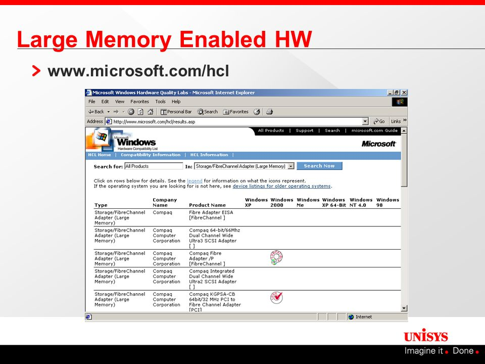 Large Memory Enabled HW