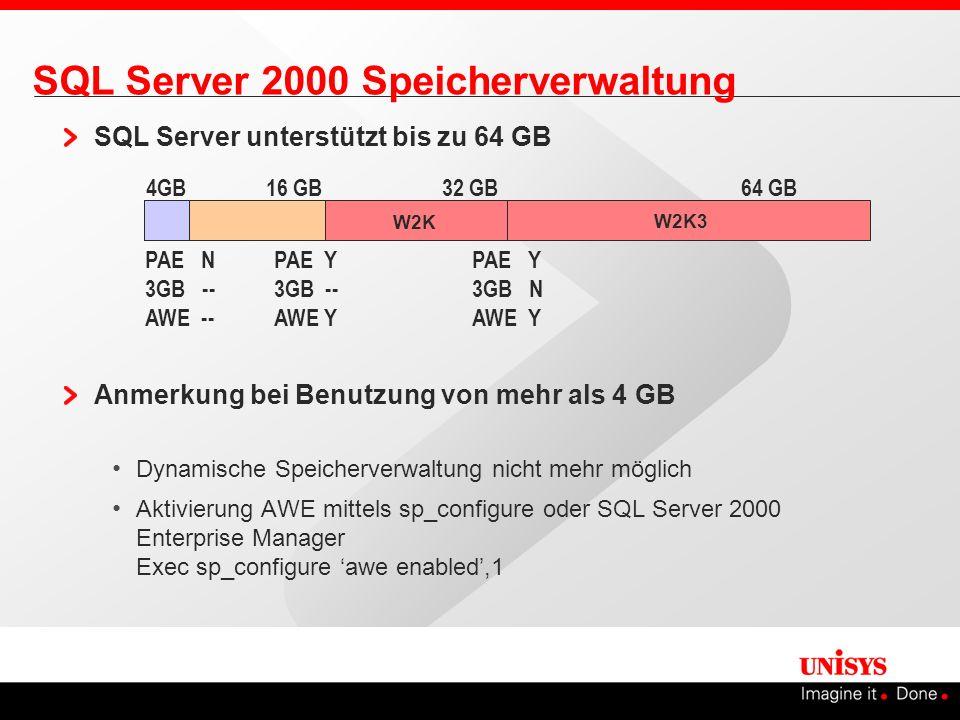 SQL Server 2000 Speicherverwaltung