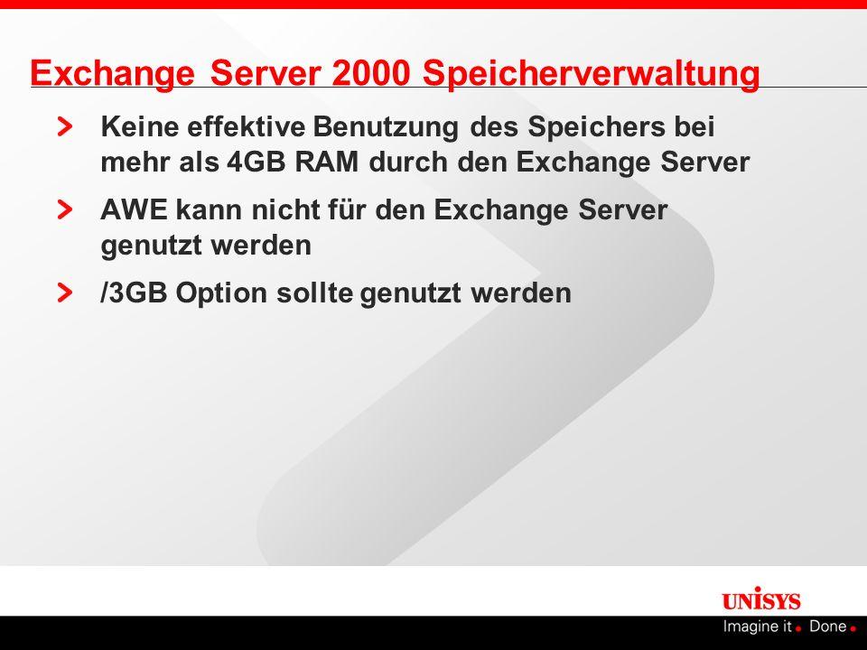 Exchange Server 2000 Speicherverwaltung