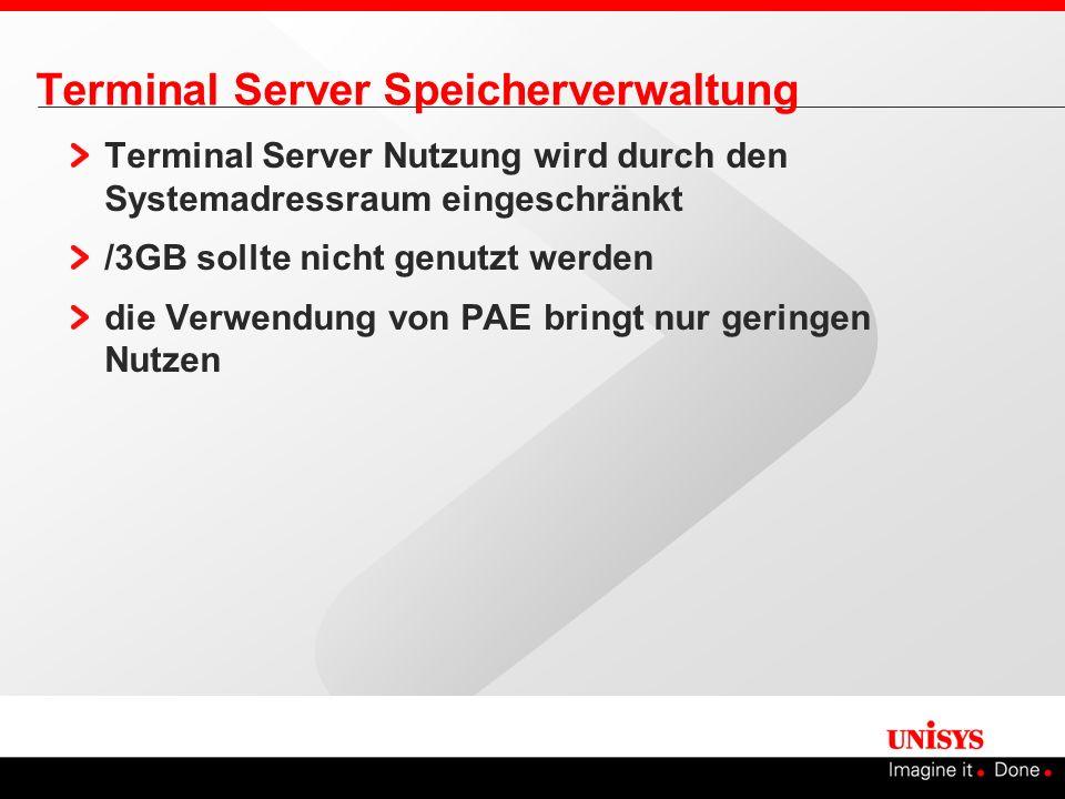 Terminal Server Speicherverwaltung