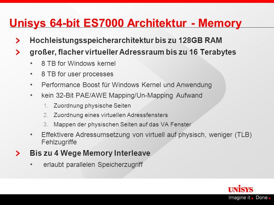 Unisys 64-bit ES7000 Architektur - Memory