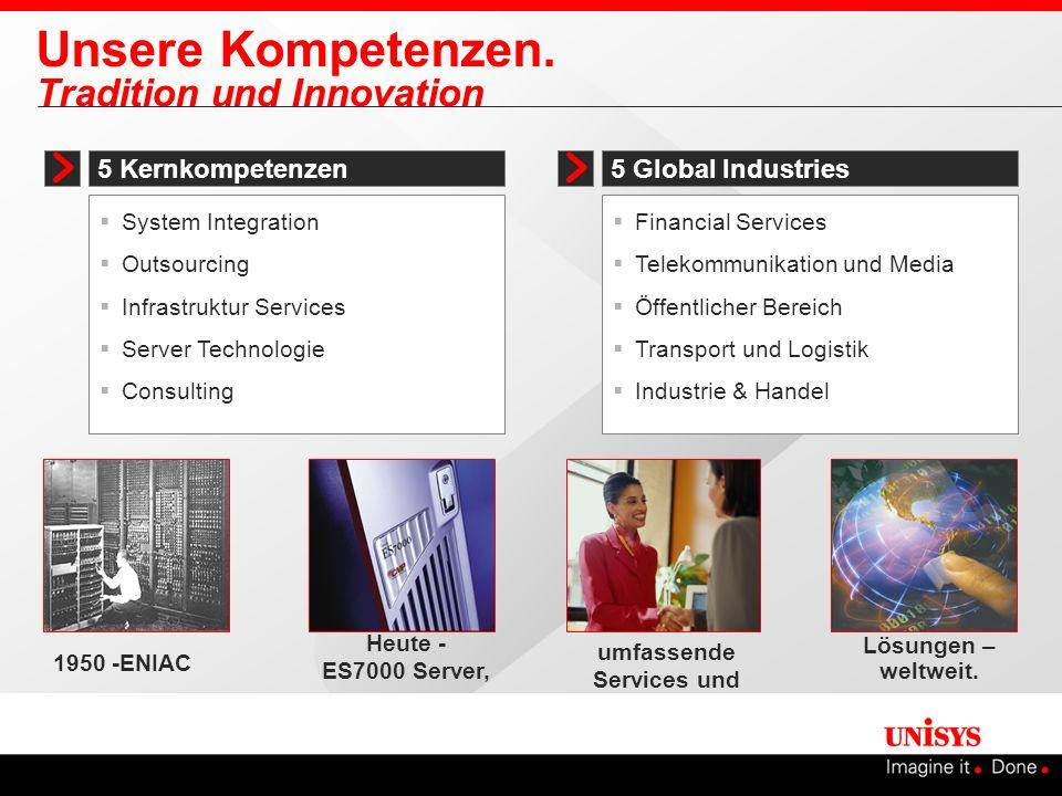 Unsere Kompetenzen. Tradition und Innovation