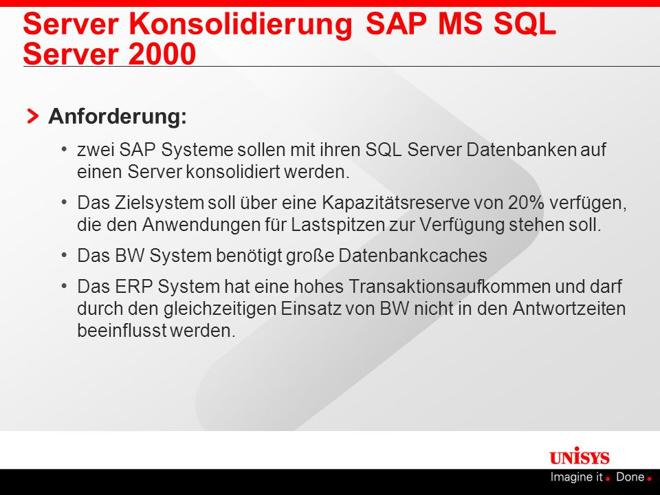 Server Konsolidierung SAP MS SQL Server 2000