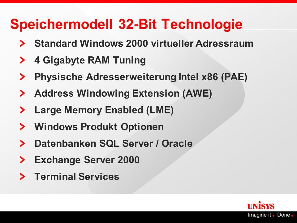 Speichermodell 32-Bit Technologie