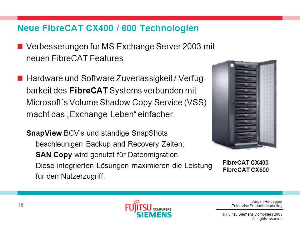 Neue FibreCAT CX400 / 600 Technologien