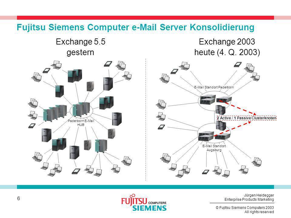 Fujitsu Siemens Computer e-Mail Server Konsolidierung