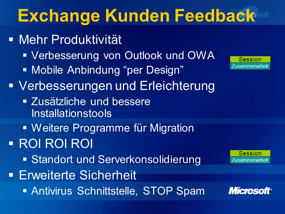 Exchange Kunden Feedback