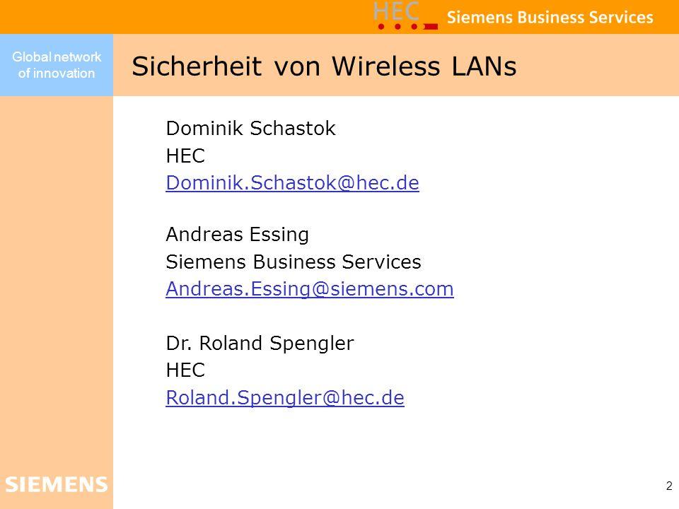 Sicherheit von Wireless LANs
