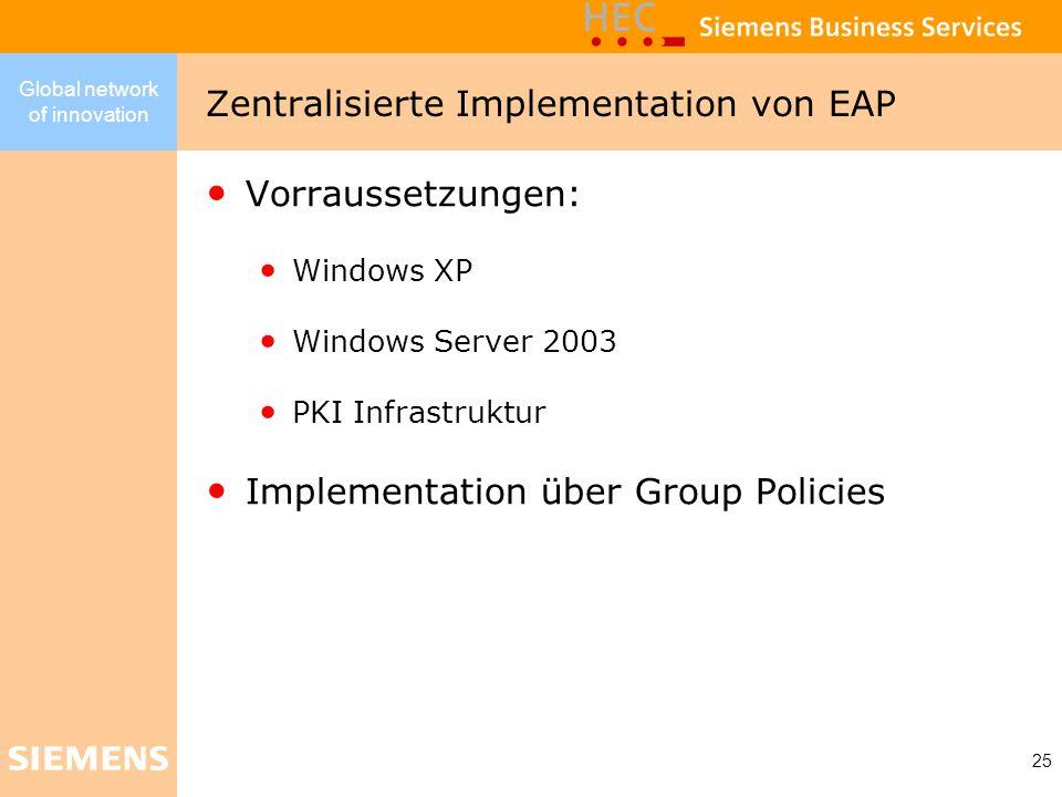 Zentralisierte Implementation von EAP