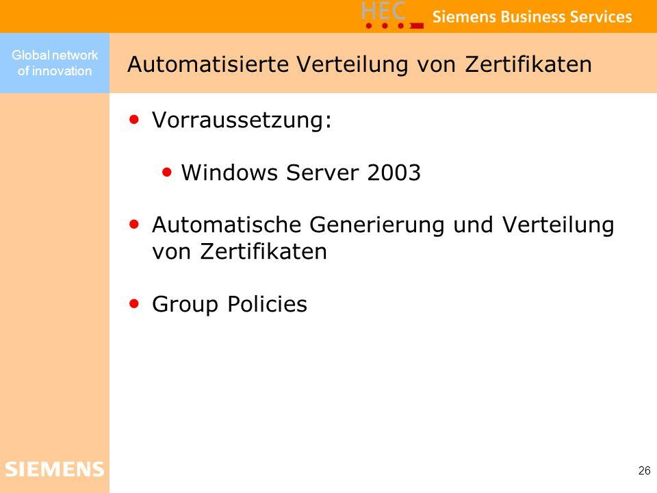 Automatisierte Verteilung von Zertifikaten