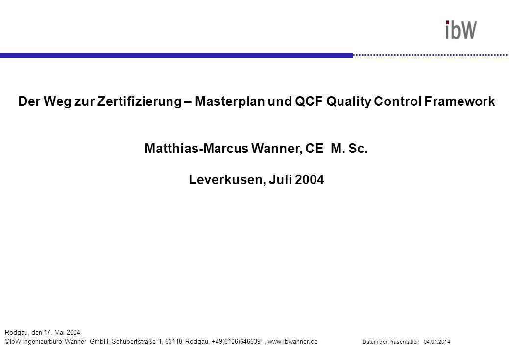 Matthias-Marcus Wanner, CE M. Sc.