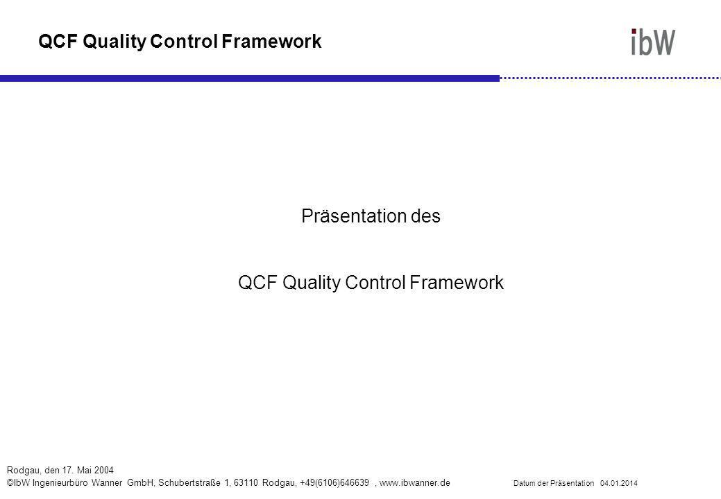 QCF Quality Control Framework