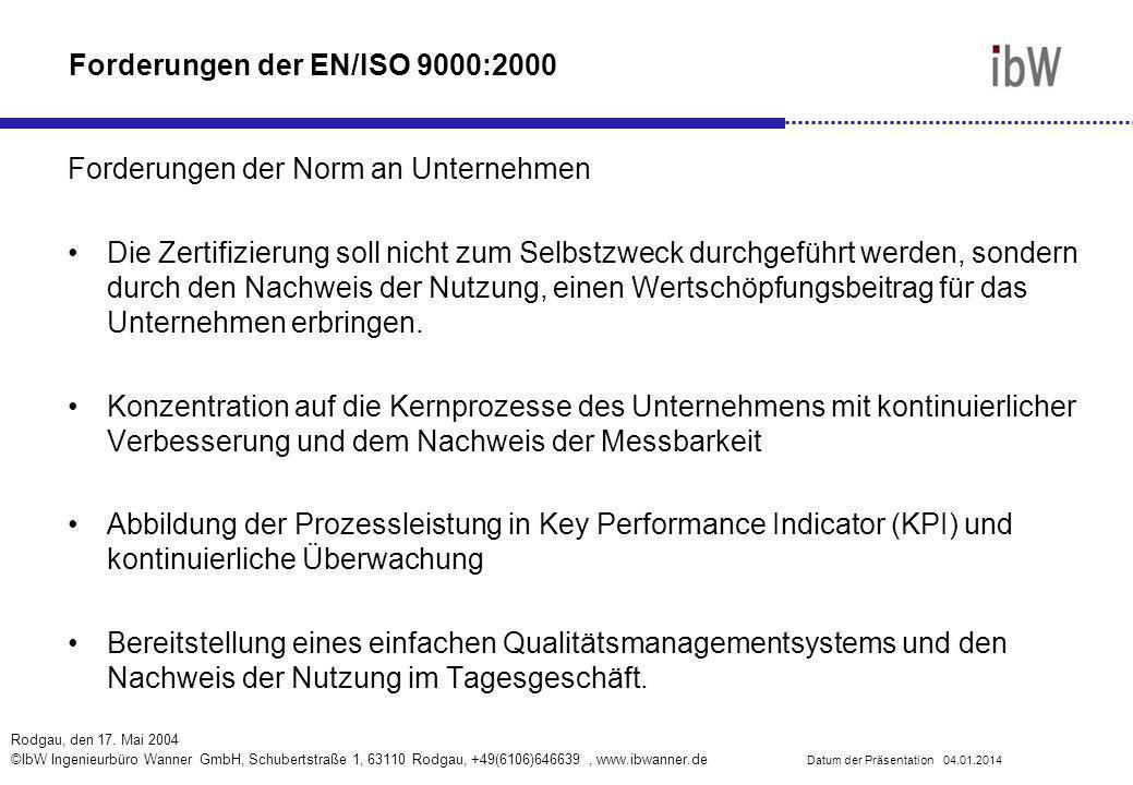 Forderungen der EN/ISO 9000:2000