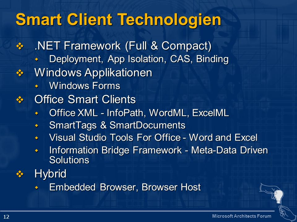 Smart Client Technologien