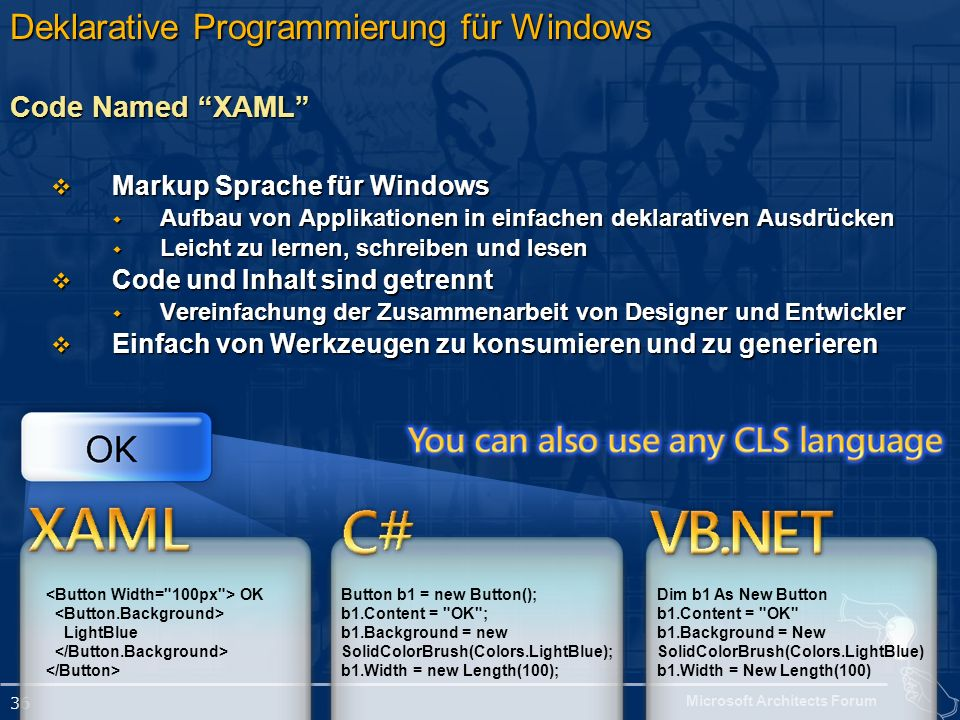 Deklarative Programmierung für Windows Code Named XAML