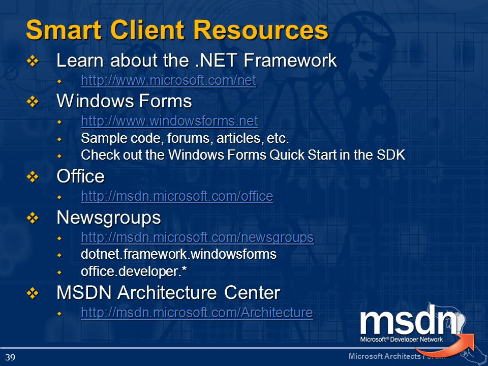 Smart Client Resources