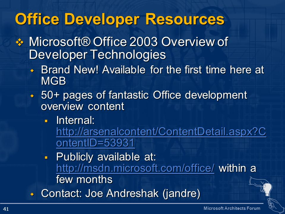 Office Developer Resources