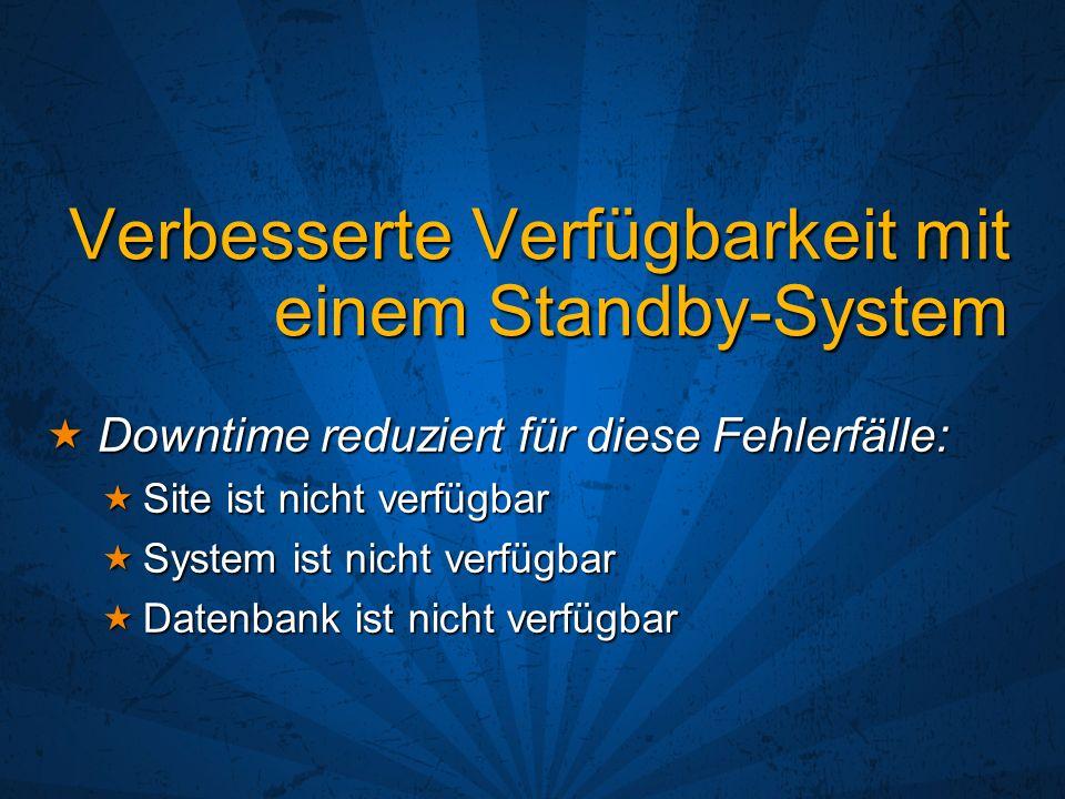 Verbesserte Verfügbarkeit mit einem Standby-System