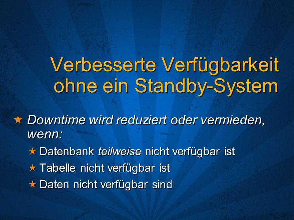 Verbesserte Verfügbarkeit ohne ein Standby-System