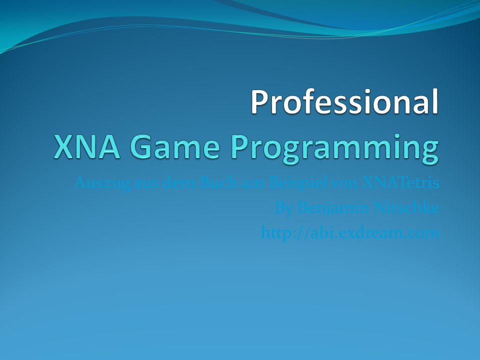 Professional XNA Game Programming