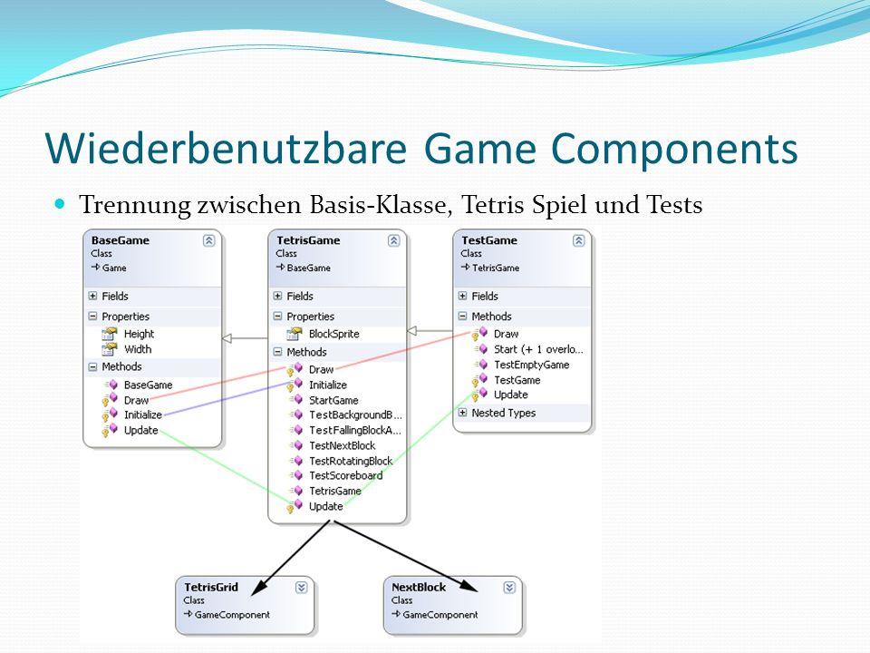 Wiederbenutzbare Game Components