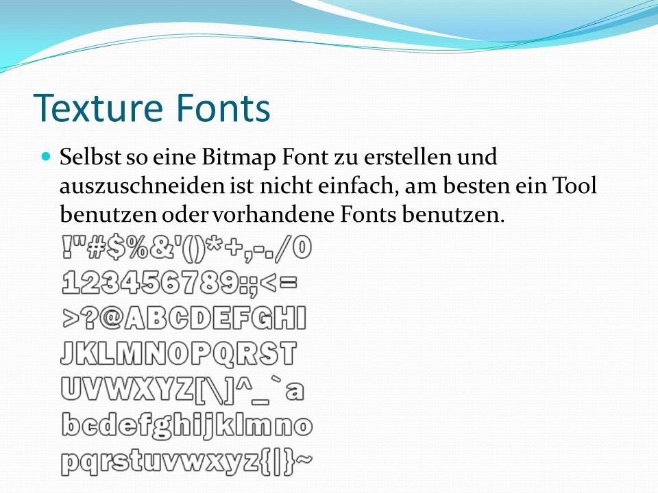 Texture Fonts