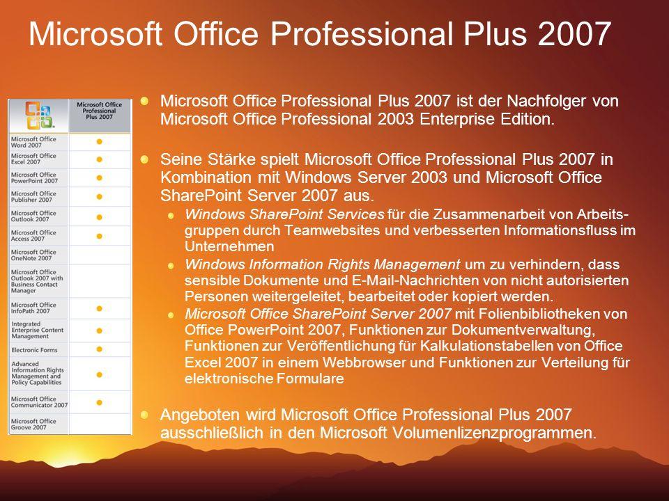 Microsoft Office Professional Plus 2007