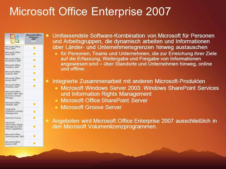 Microsoft Office Enterprise 2007