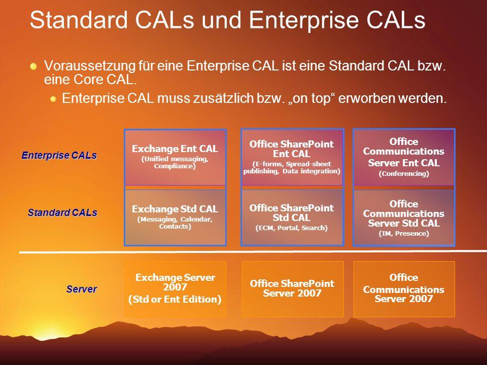Standard CALs und Enterprise CALs