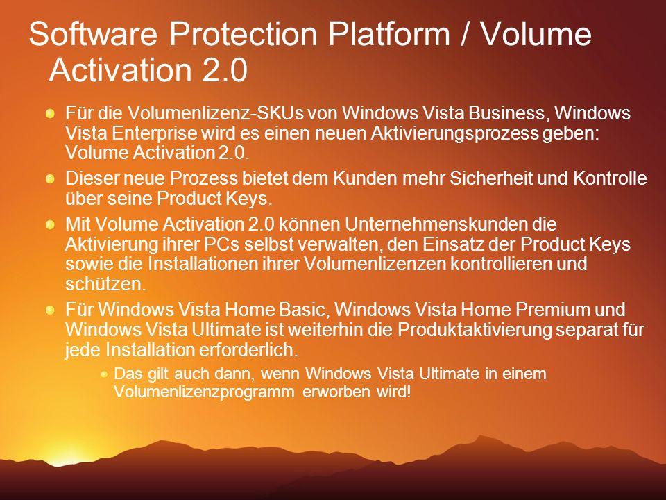 Software Protection Platform / Volume Activation 2.0