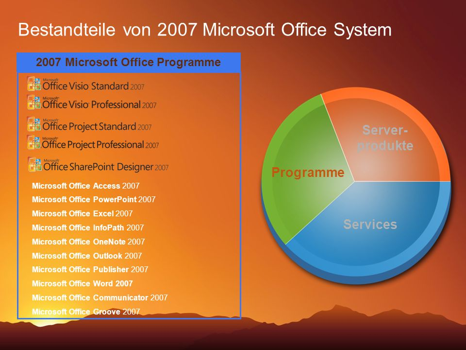 2007 Microsoft Office Programme
