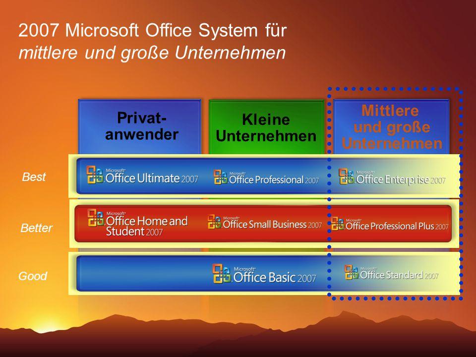 2007 Microsoft Office System für mittlere und große Unternehmen
