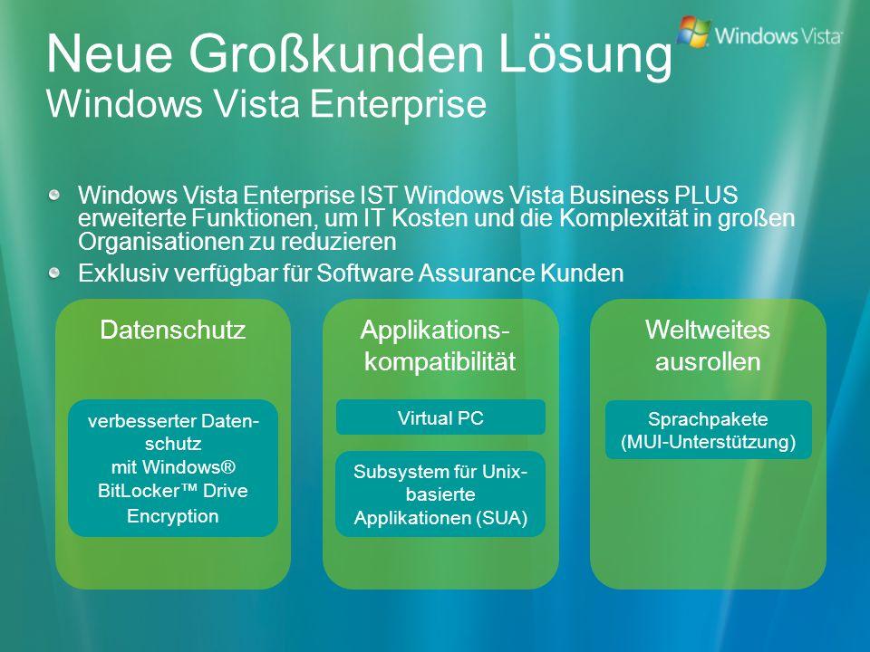 Neue Großkunden Lösung Windows Vista Enterprise
