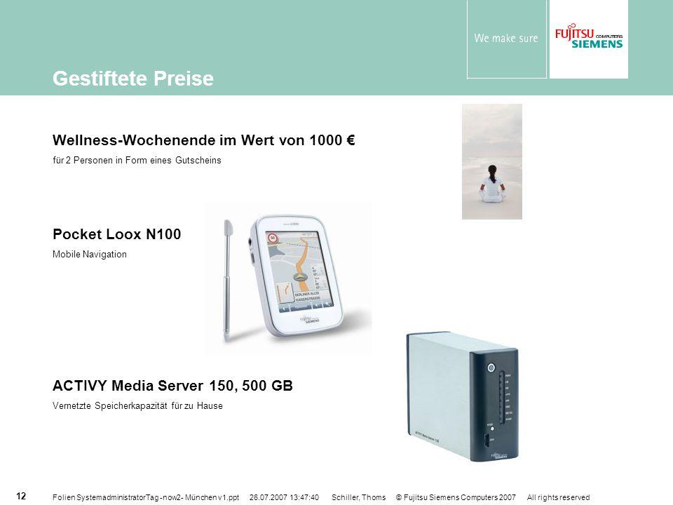 Gestiftete Preise Wellness-Wochenende im Wert von 1000 €