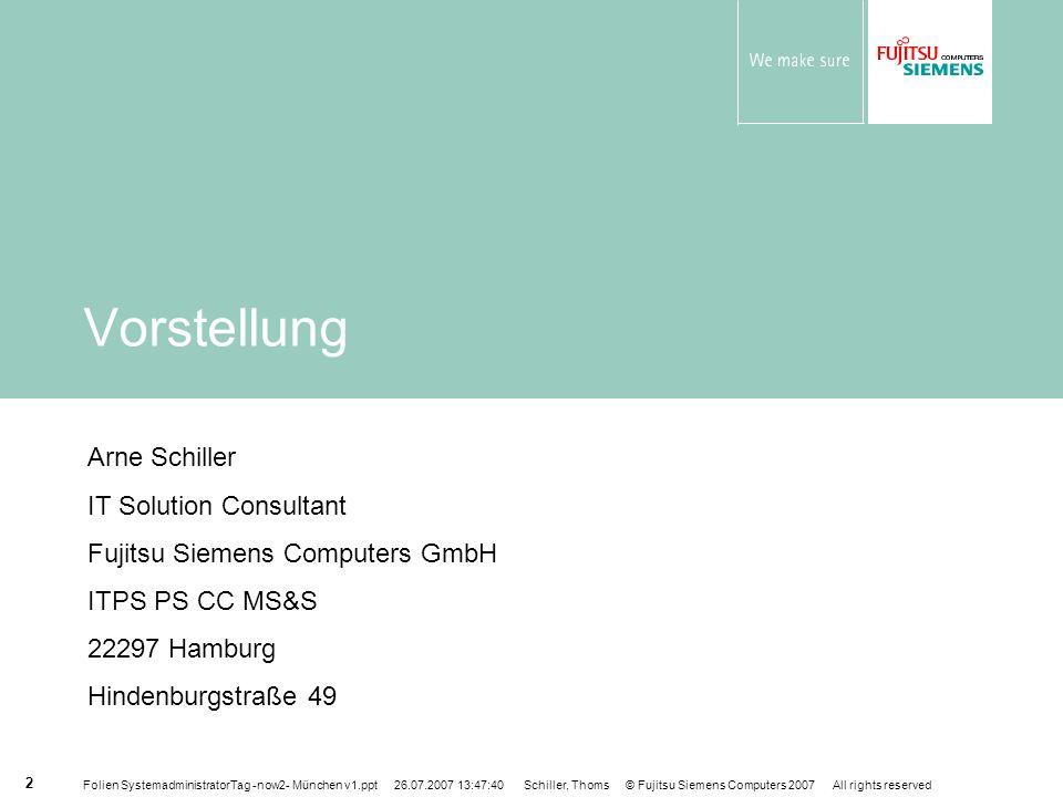 Vorstellung Arne Schiller IT Solution Consultant
