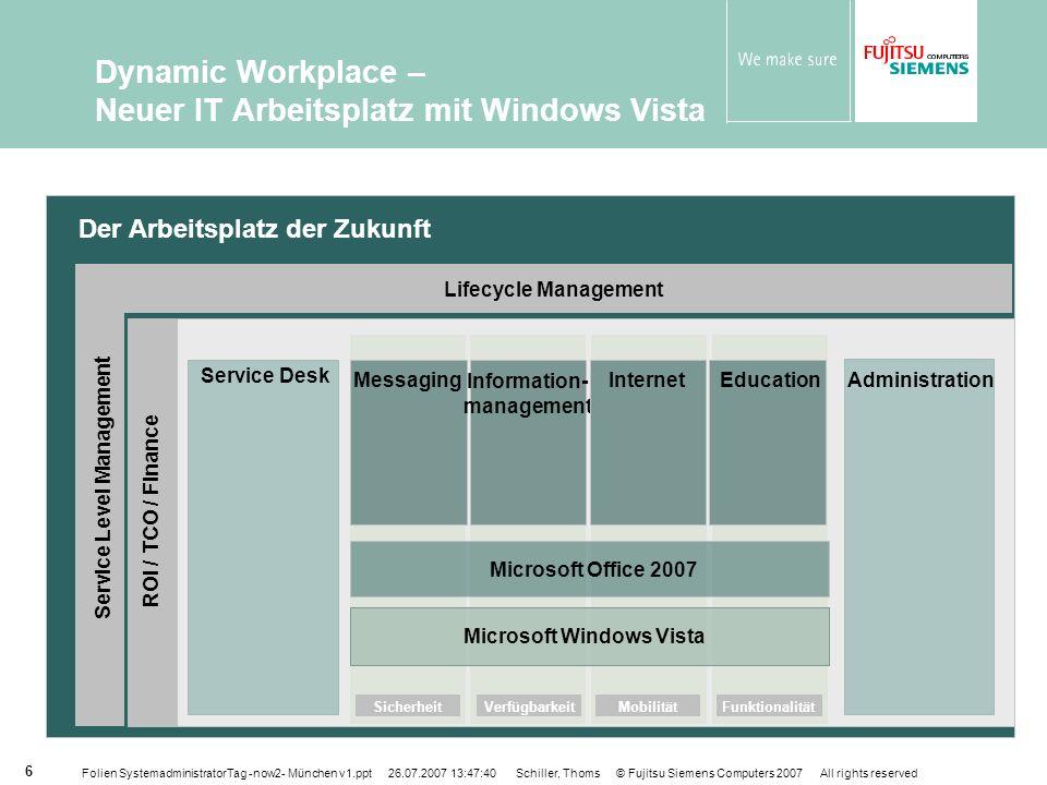 Dynamic Workplace – Neuer IT Arbeitsplatz mit Windows Vista